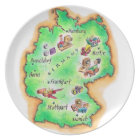 Map of Germany Plate
