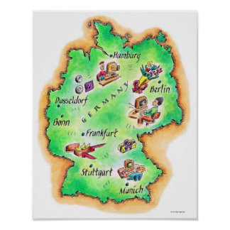 Map of Germany Posters