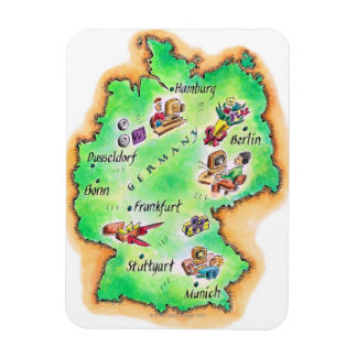 Map of Germany Rectangular Photo Magnet