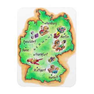 Map of Germany Rectangular Photo Magnet