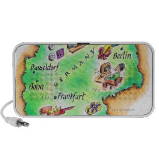 Map of Germany Mini Speakers
