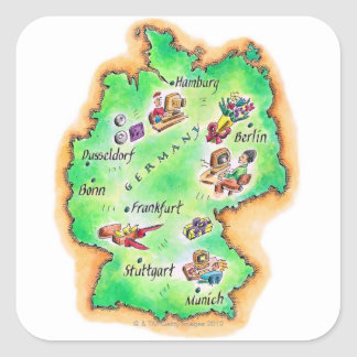 Map of Germany Stickers