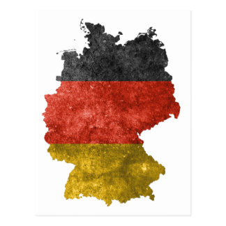 Map of Germany with flag colors Postcard