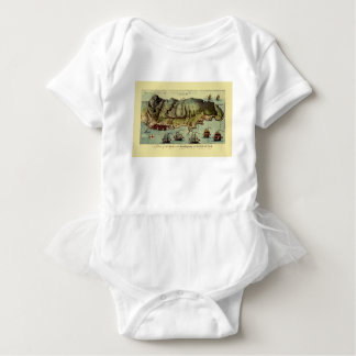 Map Of Gibraltar 1765 Baby Bodysuit
