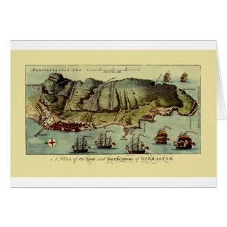 Map Of Gibraltar 1765 Card