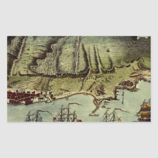 Map Of Gibraltar 1765 Rectangular Sticker