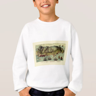 Map Of Gibraltar 1765 Sweatshirt