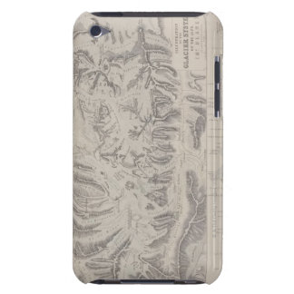 Map of Glacier Systems of the Alps iPod Touch Case-Mate Case