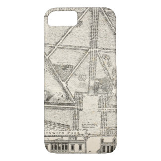 Map of Greenwich Park iPhone 8/7 Case