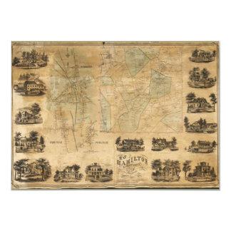 Map of Hamilton, Madison County, New York (1858) Card