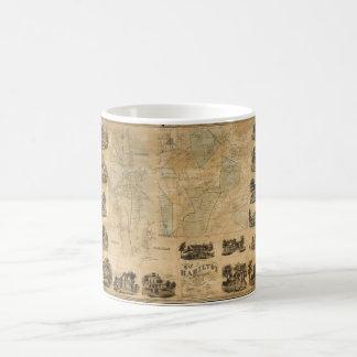 Map of Hamilton, Madison County, New York (1858) Coffee Mug