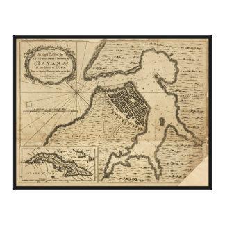 Map of Havana, Cuba (1762) Canvas Print
