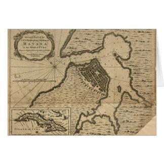 Map of Havana, Cuba (1762) Card
