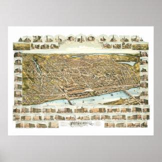 Map of Haverhill Massachusetts from 1893 Poster