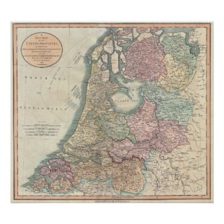 Map of Holland 1799 - by John Cary Poster