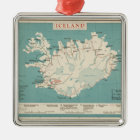 Map of Iceland (circa 1959) Metal Ornament