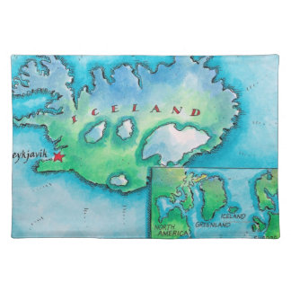 Map of Iceland Placemat
