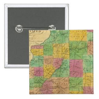 Map of Illinois 15 Cm Square Badge