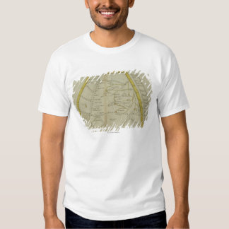 Map of India and Central Asia Tshirts