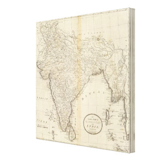 Map of India Gallery Wrap Canvas