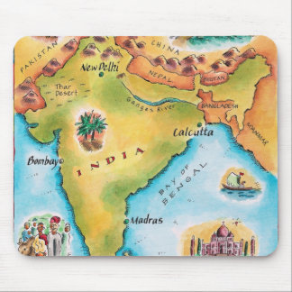 Map of India Mouse Pad