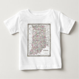 Map of Indiana. Joseph Hutchins Colton Baby T-Shirt
