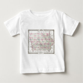 Map of Iowa. Joseph Hutchins Colton Baby T-Shirt