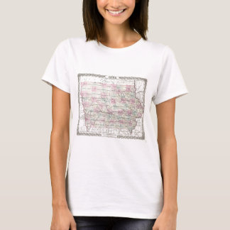 Map of Iowa. Joseph Hutchins Colton T-Shirt