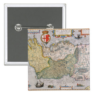 Map of Ireland 15 Cm Square Badge