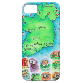 Map of Ireland iPhone 5 Covers