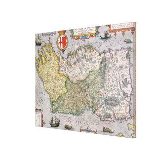 Map of Ireland Gallery Wrap Canvas
