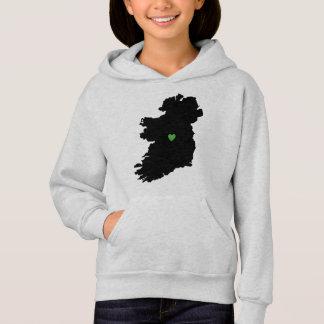 Map of Ireland Irish Pride Green Heart