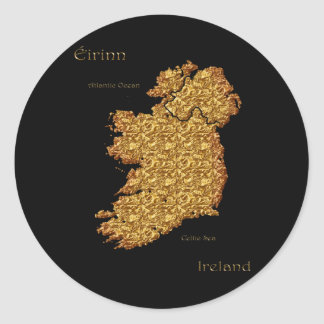 Map of IRELAND Sticker Series