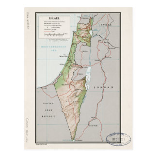 Map of Israel (1967) Postcard