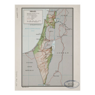 Map of Israel (1967) Poster