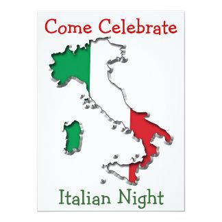 Map of Italy 14 Cm X 19 Cm Invitation Card