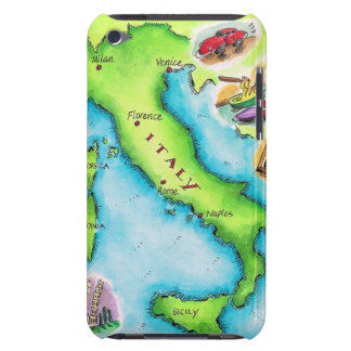 Map of Italy 2 iPod Touch Cover
