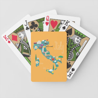 Map of Italy Bicycle Playing Cards