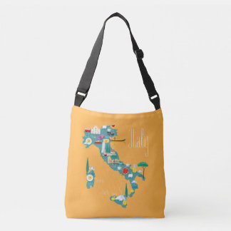 Map of Italy Crossbody Bag