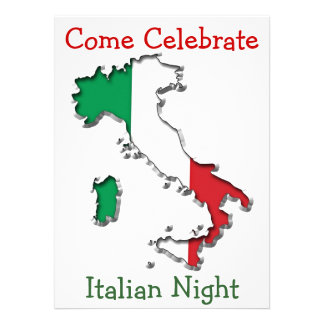 Map of Italy Custom Invitations