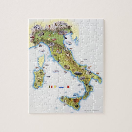 Map of Italy Jigsaw Puzzle