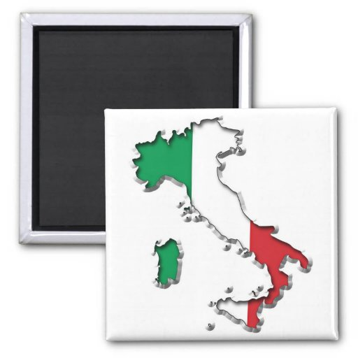 Map of Italy Refrigerator Magnets