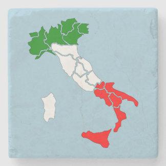 Map of Italy stone coaster.