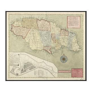 Map of Jamaica (1771) Canvas Prints