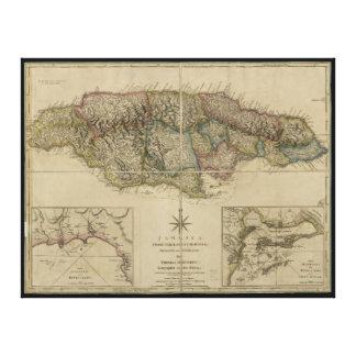 Map of Jamaica (1775) Canvas Print