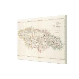 Map of Jamaica Canvas Prints