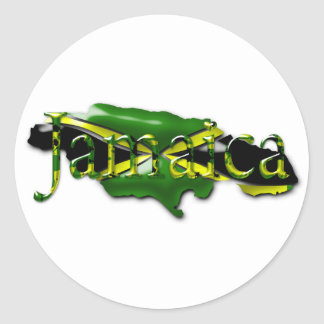 Map of Jamaica Sticker