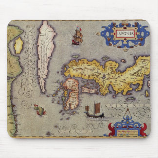 Map of Japan by Mercator and Hondius, 1606 Mouse Pad
