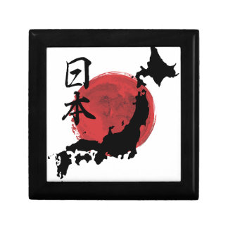 Map of Japan Small Square Gift Box