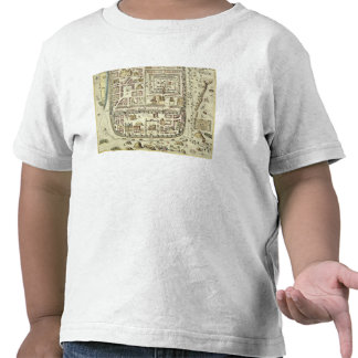 Map of Jerusalem and the surrounding area, from 'C T-shirts